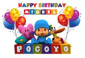 Image 2 - Sensfun Fondo de fiesta de cumpleaños de caricatura Pocoyo para estudio fotográfico, globo colorido, fotografía, vinilo de 7x5 pies