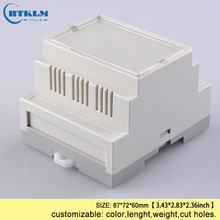 Промышленный din-рейку пластиковый корпус abs электронный проект Чехлы diy din-рейку коробка распределительная коробка для проводов пользовательские plc коробка 87*72*60 мм