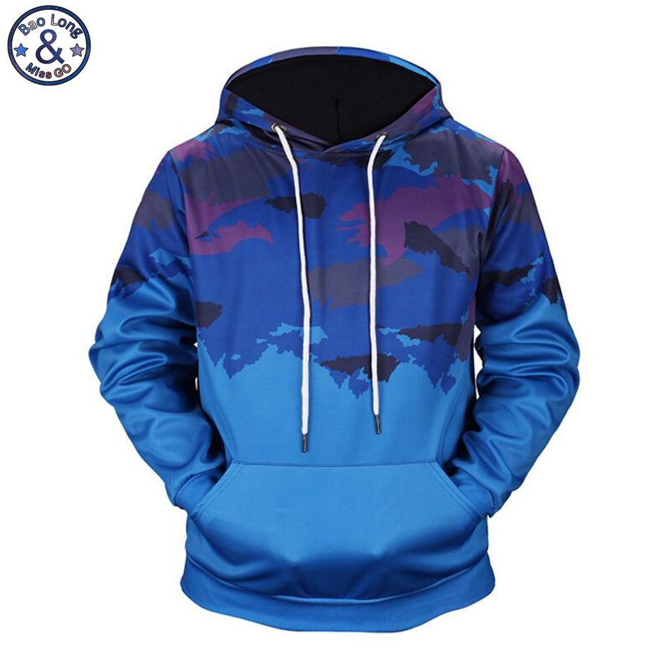 Mr.BaoLong New design Army fan jungle camouflage 3D printed hooded hoodies men's drawstring hoodies pullover sweatshirt H139