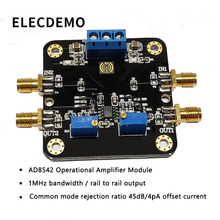 AD8542 Module Rail-to-Rail Output Op Amp 1MHz Bandwidth Common Mode Rejection Ratio 45dB 4pA Offset Current