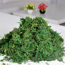 Promotion!!FAKE Artificial Dried Reindeer Moss for Flowers Grass Basket Plant Home Garden Garland Wedding Party DIY Decoration(China)
