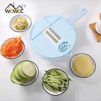 Wowcc mandoline slicer multi-função de corte de alimentos batata cenoura vegetariano ralador chopper cozinha máquina de corte ralador de queijo