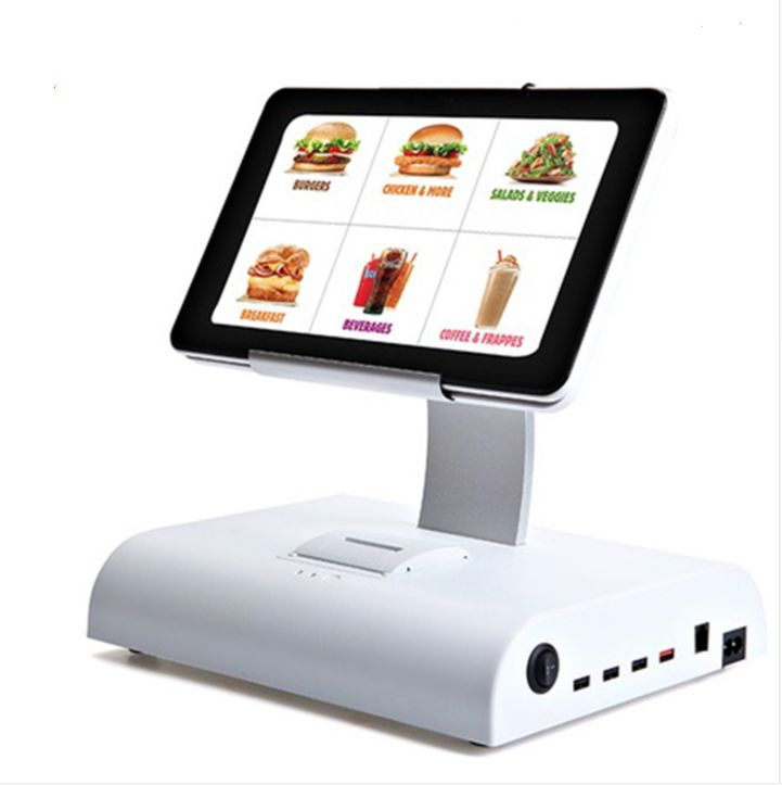 10 Inch Android Touch Pos Machine With Red Color Thermal  Pos System
