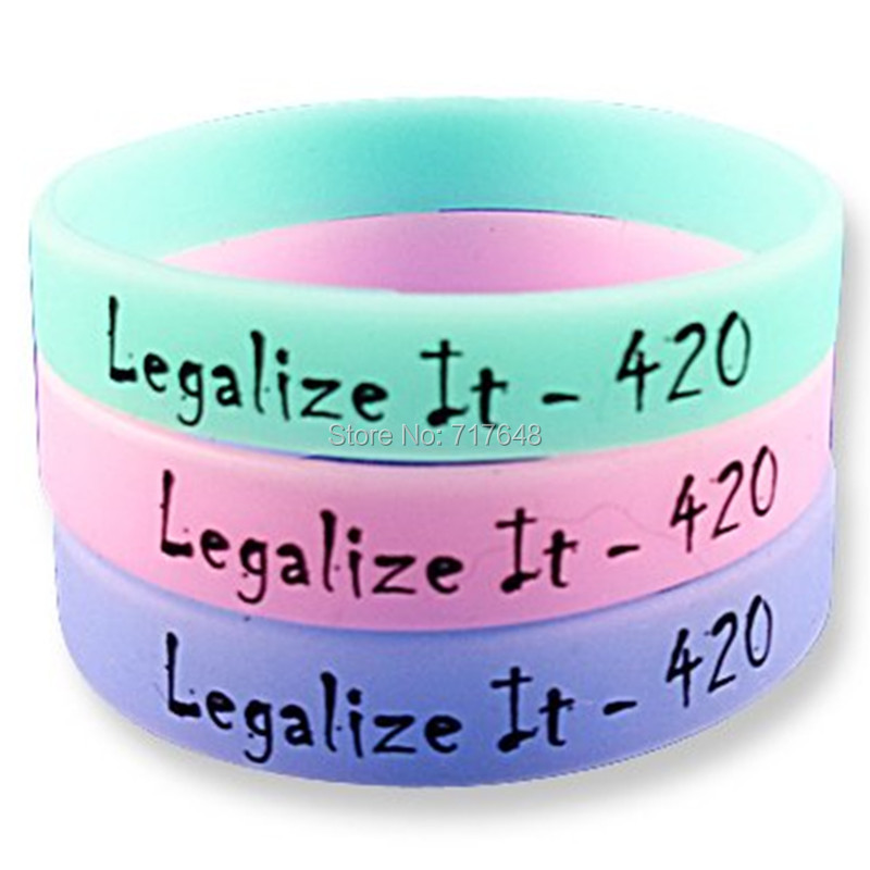 HANJUNSHSY 300pcs Legalize It - 420 wristband silicone