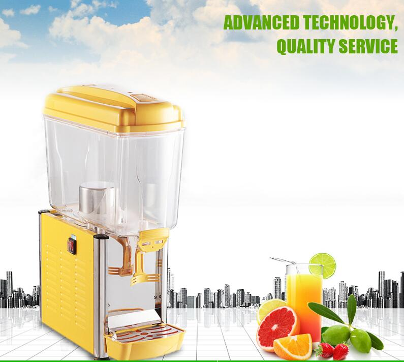 1tank commercial cold drink dispenser drinks beverage machine juice machine fruit cold juicer cold juice dispenser duoble heads juice dispenser slush machine 15l 2