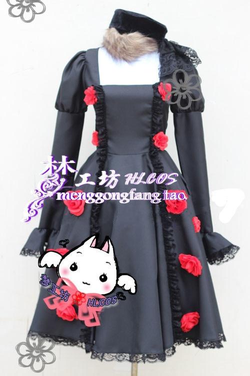 Axis Powers Hetalia APH Russia Anya Buraginsukaya Cosplay Costume Anime Custom Made Black Dress