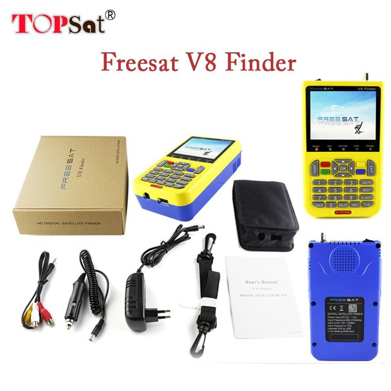 Freesat v8 finder digital finder 3.5 inch LCD digital satFinder DVB-S2 MPEG-4 Free sat v8 satellite Finder pk 6933 satlink ws 6908 3 5 lcd dvb s fta data digital satellite signal finder meter