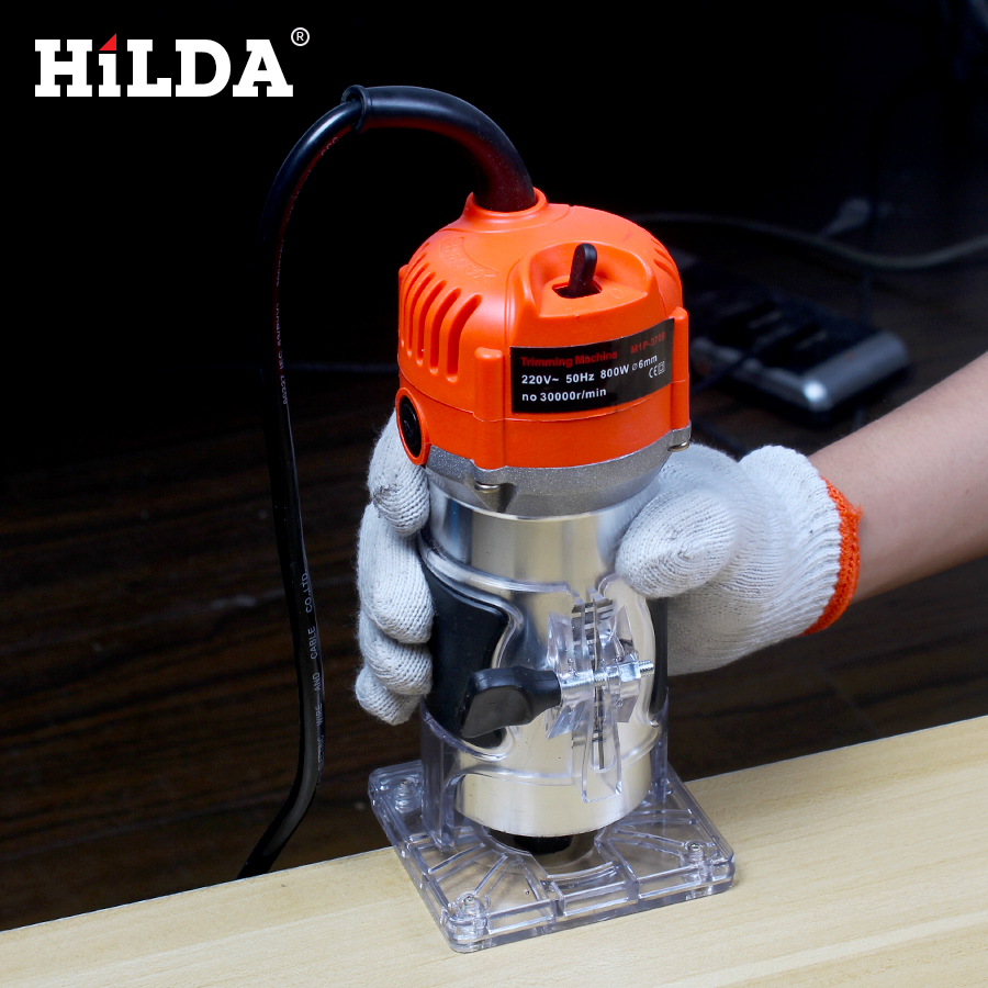 HILDA 550W Power Electric Router For Woodwork 6mm and 1 4 With European Plugs Woodworking Trimmer