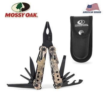 Mossy Eiche 13 in 1 Camping Multi Werkzeuge Multifunktions Zange Outdoor Survival Getriebe Folding Tasche Zange