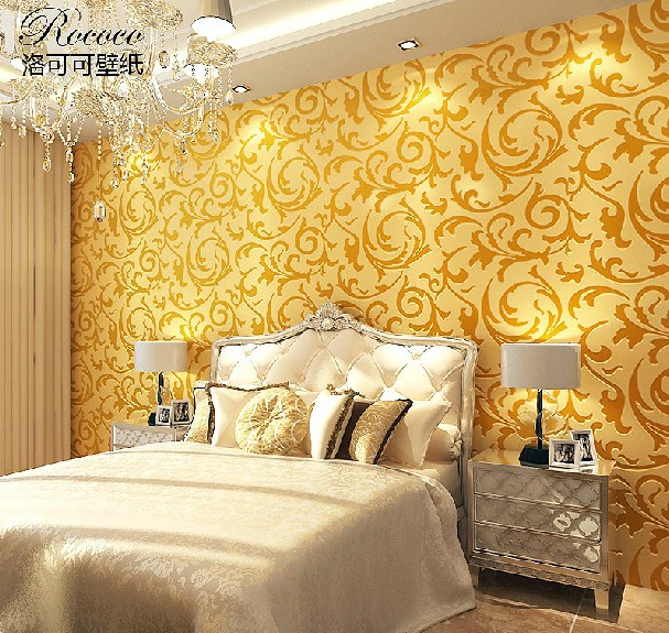 Gold Coulor Luxury Sophisticated R Stylish Living Room Wallpaper 4 Colour Avaliable Geometric Pattern Wallpaper For Baby Room Wallpaper Styleroom Decor Wallpaper Aliexpress