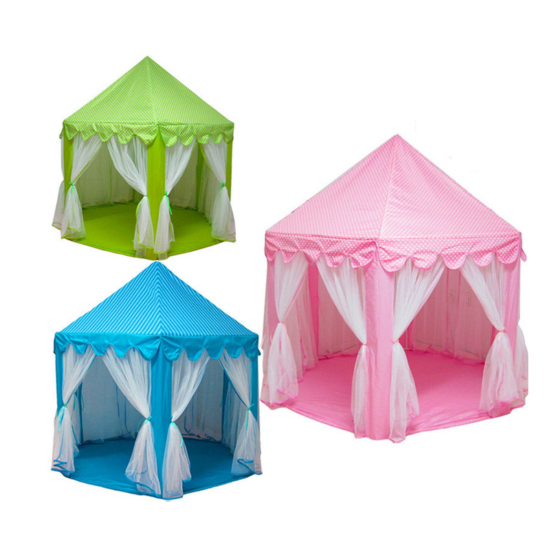 2017 New Play Tent Portable Foldable Princess Folding Tent Children Castle Play House Kids Gifts Outdoor Toy Tents For Kid 3 colors play tent portable foldable tipi prince folding tent children boy castle cubby play house kids gifts outdoor toy tents