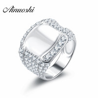 925 Sterling Silver Ring For Men 2016 Fashion Jewelry Sona Diamond Men S Engagement Wedding Nscd