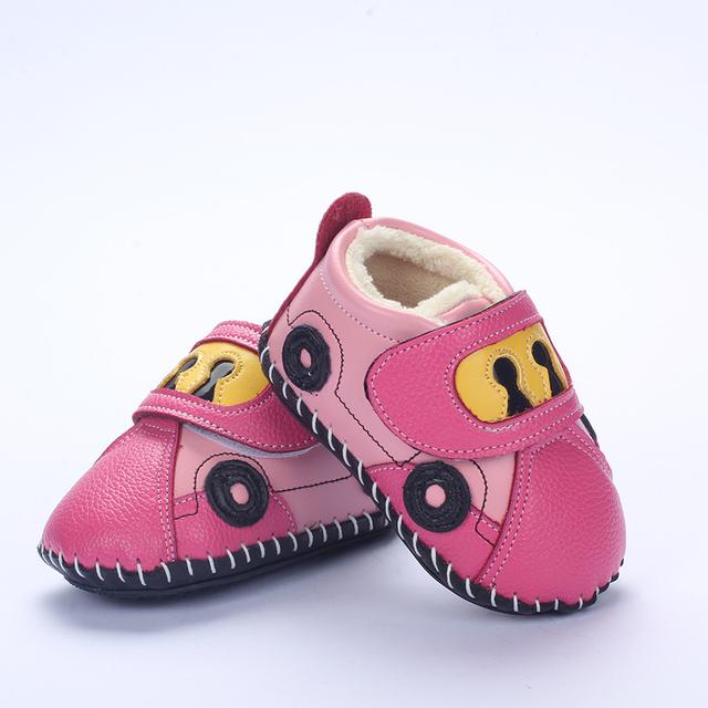 Nueva llegada del envío libre Zapatos de bebé primeros caminante de cuero antideslizante Zapatillas zapatos inferiores suaves infantiles 0-2 años FW18