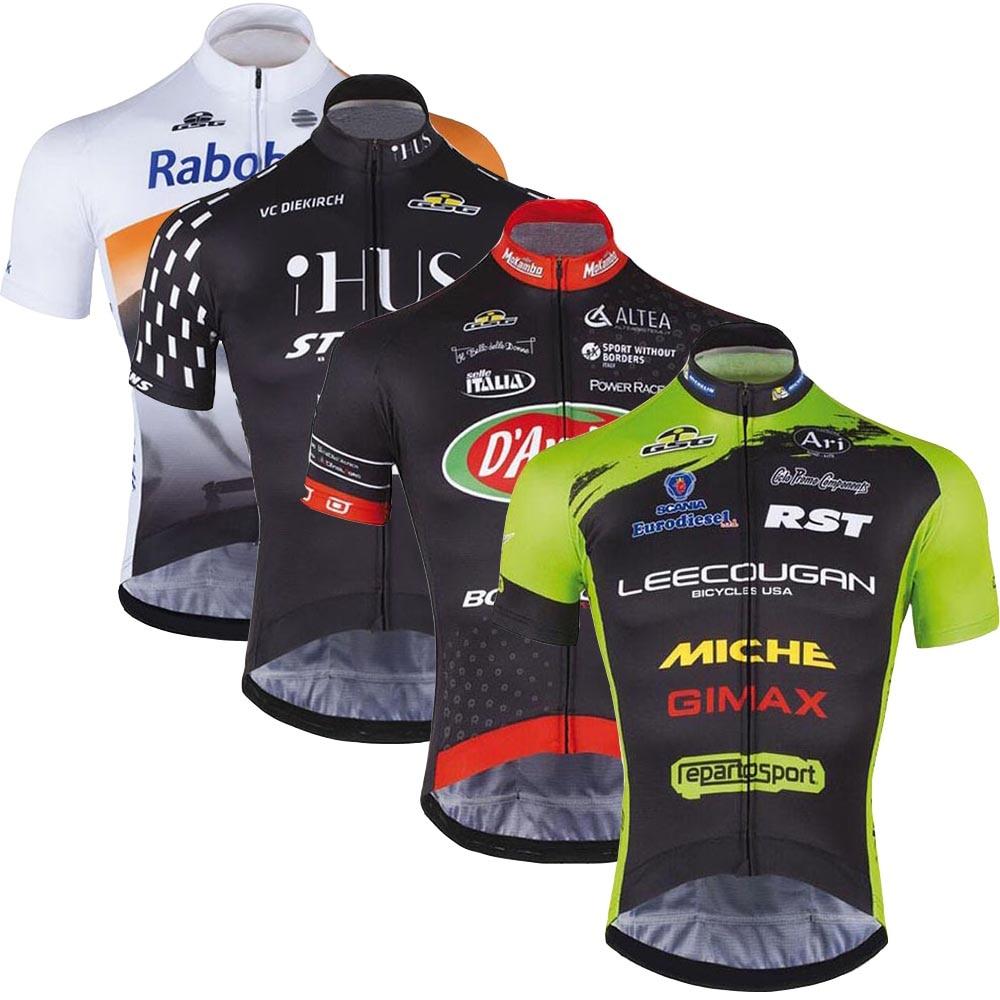 New Triathlon Cycling Jerseys Men 2018 Pro Team Short Sleeve Men Breathable Cycling Clothing Quick Dry MTB Bike Ropa Ciclismo