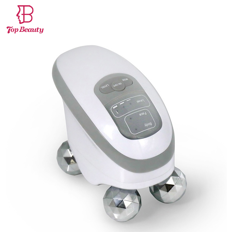 EMS 3D Roller Massage Face Neck Chin Body Massager Electric Full Body Handheld Massage Device Facial Massaging Rolling Lift 3d roller face lift ball v face spa massage tightness skin facial wrinkle remover chin body slim beauty tool massager care