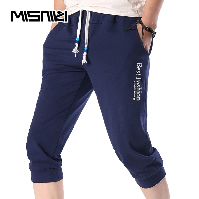 MISNIKI 2018 Summer Mens Sweatpants Joggers Men Cotton Casual Slim Calf-Length Trousers Men Cool Youths Men Pants