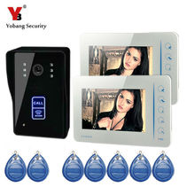Yobang Security Wired Touch Key 7″ Video Door Phone Intercom System video doorbell camera,Hands Free Monitor Intercom Doorbell