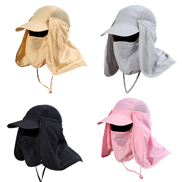 11877b9c5b3 UV Protection Face Protector Hat 360 Degree Quick Drying Neck Ear Cover Cap  Fishing Hiking