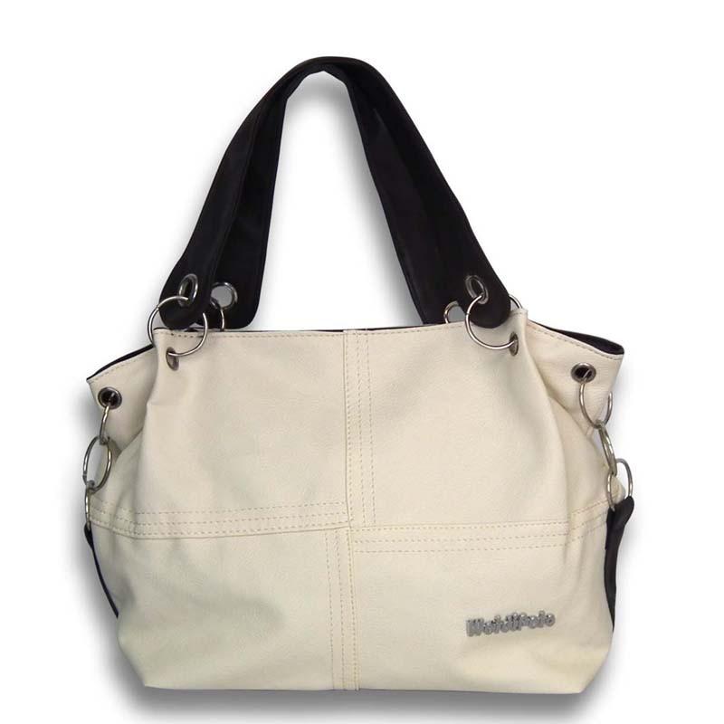 2016 New Fashion Korean Style Bucket Tote Bag Women PU Leather Handbags Vintage Ladies Classical Messenger