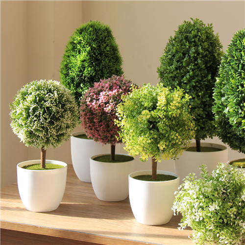 Artificial Plants For Living Room Neutral Colors Walls Bonsai Tree Ball Fake Decoration Bouquet Grass Desktop Office Decor In Dried Flowers From Home