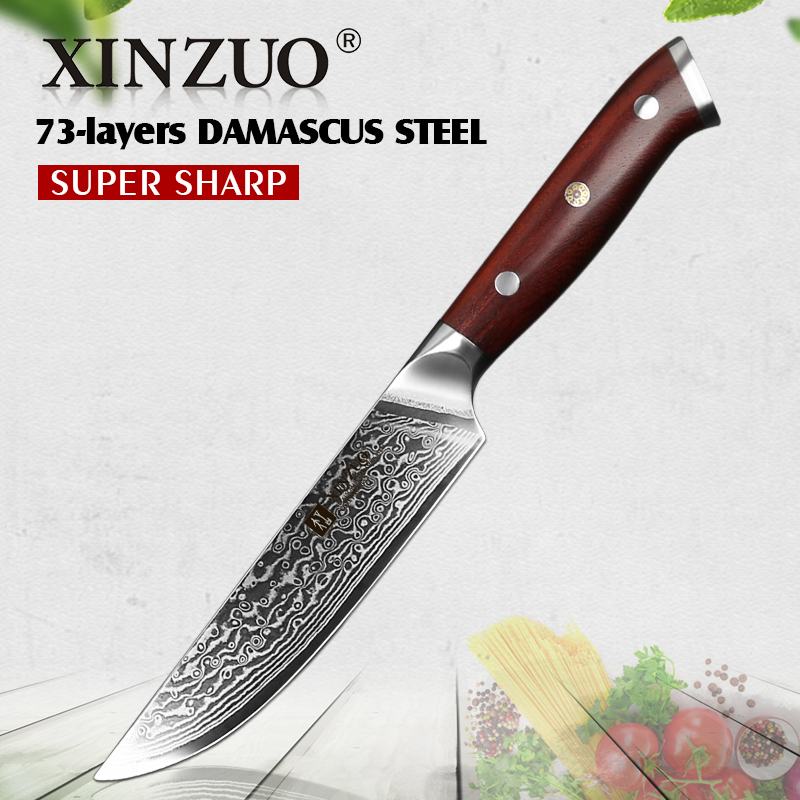 XINZUO 5 Steak Knife High Carbon Japanese Damascus Steel Blade Kitchen Knife Razor Sharp Newarrival Chef