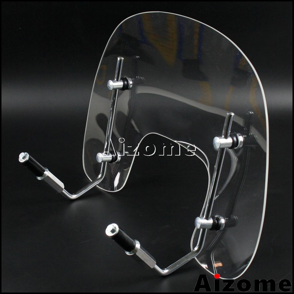 1 Set Scooter Flyscreen Windscreen Windshield For Vespa S125 Motorcycle Clear Air Deflectors Wind Screen