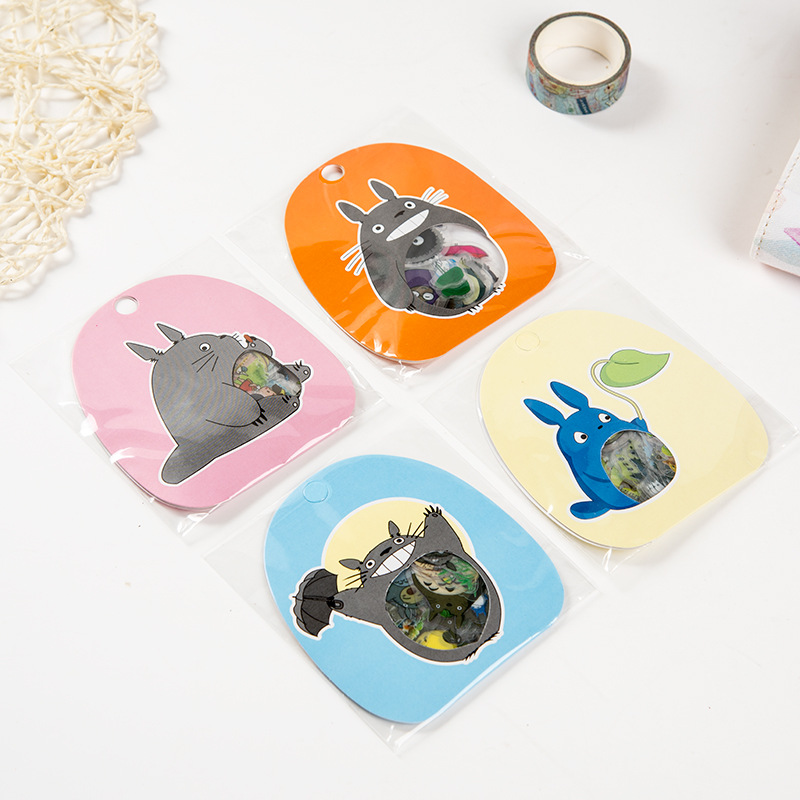 60pcs/set Totoro Cartoon PVC Clear Japanese Stickers  Stationery Sticker  Diary Stickers  Journaling Stickers Scrapbooking