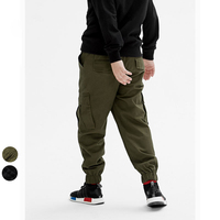 Children Boy Army Green Cargo Pant Spring Autumn Baby Clothes Boy Trousers Pocket Kis Trousers Fashion
