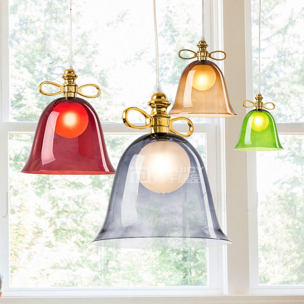 Colorful Glass Bowknot LED Corridor Loft Bedroom Bar Ceiling Light Lamp Droplight Cafe Bar Hall Store Restaurant Decor loft american edison vintage industry crystal glass box wall lamp cafe bar coffee shop hall store club