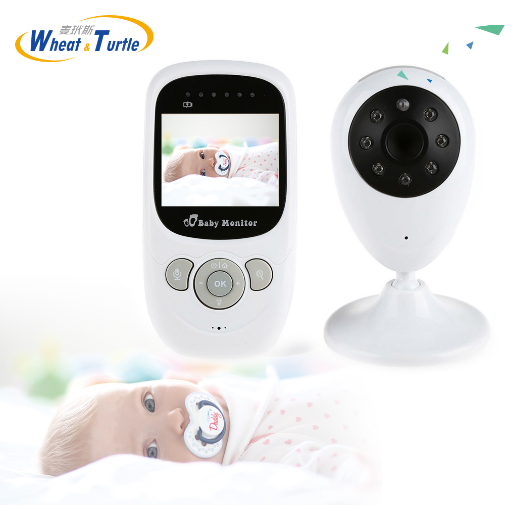 Mother Kids Safety Baby Sleeping Montiors Infant 2.4 GHz Wireless Babysitter Digital Baby Monitor Night Vision Display Nanny ...