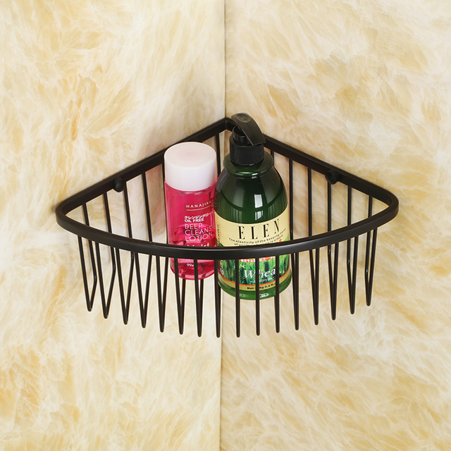 Oil Rubbed Bronze Stainless Steel Wall Mount Corner Shower Caddy ...