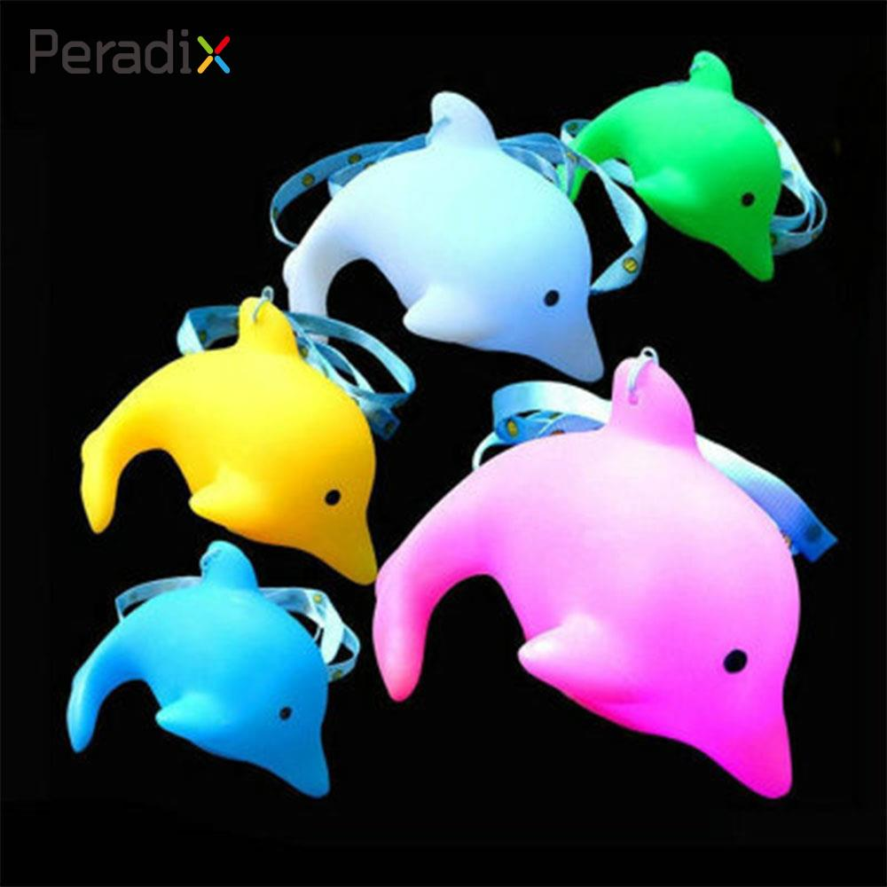 Peardix Flashing Dolphin Colorful Light Dolphin Dolphin Toy Electronic Components Colorful Light Plastic Developmental Flashing
