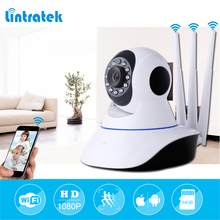 hot deal buy lintratek three antennas security camera hd 1080p video surveillance ip camera mini wifi cctv camera wi-fi home security ip cam