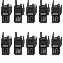 10pcs Baofeng GT-3WP IP67 Waterproof VHF/UHF 136-174/400-520MHz Dual Band Handheld Transceiver Ham Two Way Radio Walkie Talkie