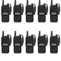 10pcs Baofeng GT 3WP IP67 Waterproof VHF/UHF 136 174/400 520MHz Dual Band Handheld Transceiver Ham Two Way Radio Walkie Talkie
