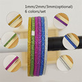 6Pcs/set 1mm/2mm/3mm Nail Striping Tape Line DIY Nail Art Adhesive Decal Nail Decoration Styling Tool