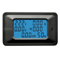 Digital 100A AC Digital Panel Power Watt Meter Tester Monitor Voltage KWh Voltmeter Ammeter Detector LCD Dispaly