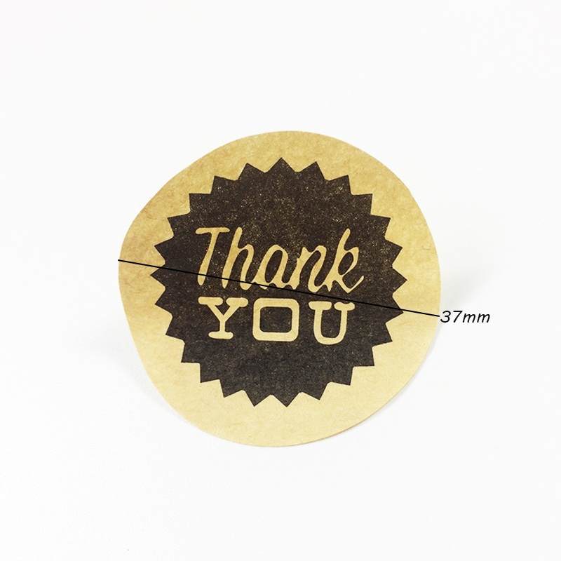 90pcs lot Nine Kinds Of THANK YOU Font Sealing Stickers Packaging Label Gift Bag Candy Box Decor in Stickers from Home Garden