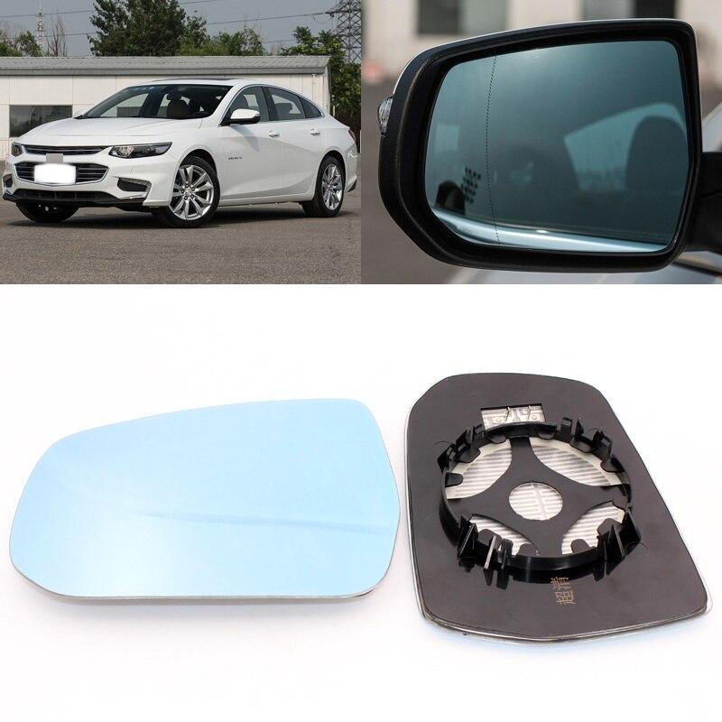 Pour Chevrolet Malibu XL 2012-2017 rétroviseur de porte latérale en verre bleu avec Base chauffée 1 paire