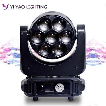 הזזת ראש אור led 7x40 w קרן RGBW dmx512 זום לשטוף אפקט עבור מקצועי DJ אור בר שלב אור