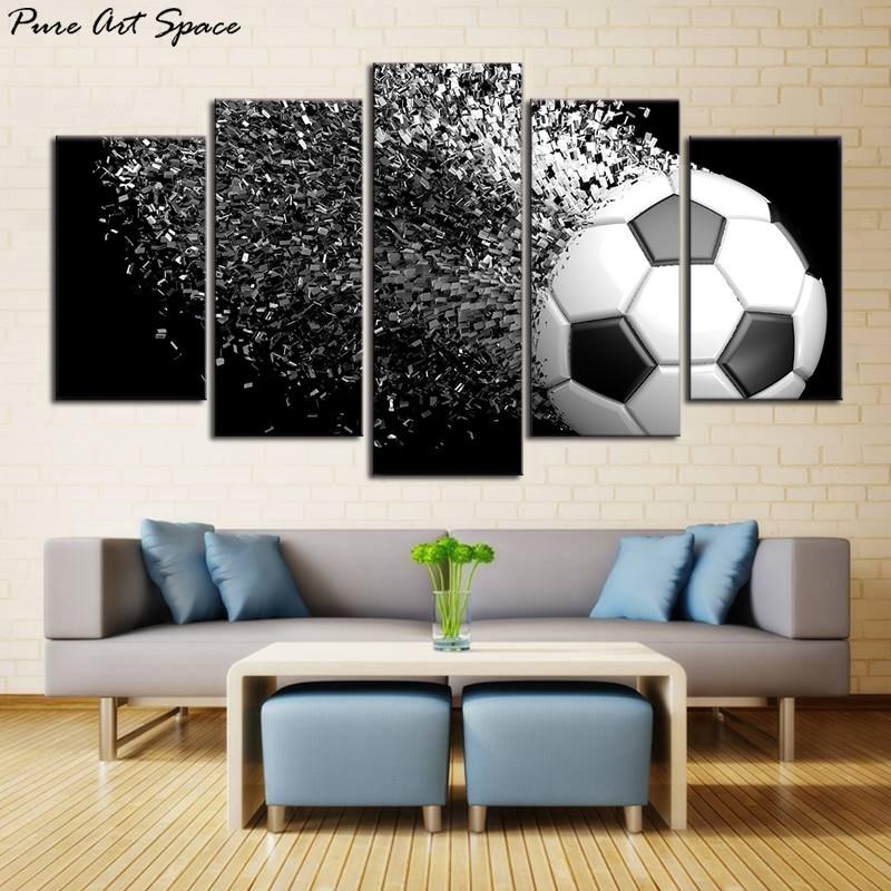 Wall Art Soccer Football Sports Themed