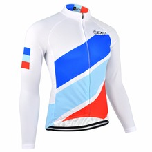 BXIO Brand Long Sleeve Cycling Jersey Shirts Camisa Manga Longa Bike Wear MTB Cycling Clothing New Arrival Blue Top Rate 091-J
