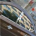 Frete grátis aço inoxidável janela pilar guarnição acessórios do carro 8 pcs para Nissan 2012 Sylphy Sentra PULSAR Sedan
