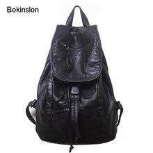 Bokinslon рюкзак Для женщин популярные корова Разделение кожаная дорожная сумка дамы Повседневное Колледж стиль рюкзак для девочек