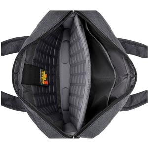 Image 3 - Sacoche Portable de luxe à épaule épaisse pour hommes et femmes, sacoche, étanche, antichoc, Air pochette dordinateur 17.3 15 14 15.6