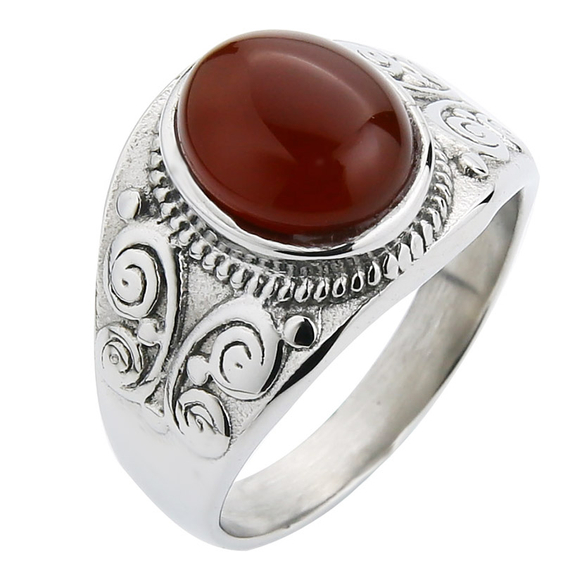 Silver-red agate