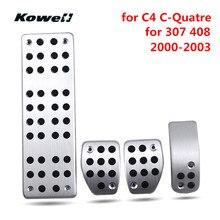 Kowell ног топлива газа сцепные Педали для автомобиля Accelerator площадкой для Peugeot 307 408 для Citroen C4 C-Quatre 2000-2003 тонн подножка