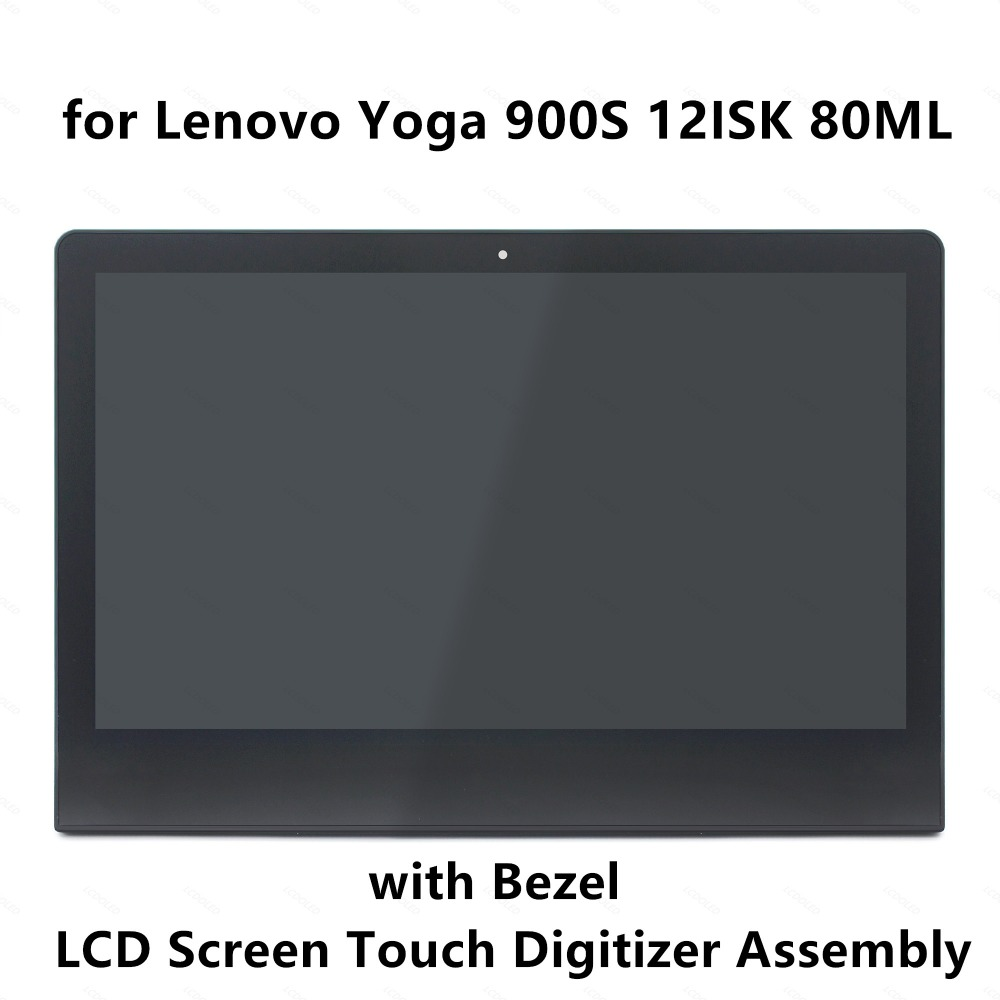 LCD Screen Display Panel Touch Digitizer Glass Assembly+Frame for Lenovo Yoga 900S 900S-12ISK 80ML Yoga 4S 1920x1080