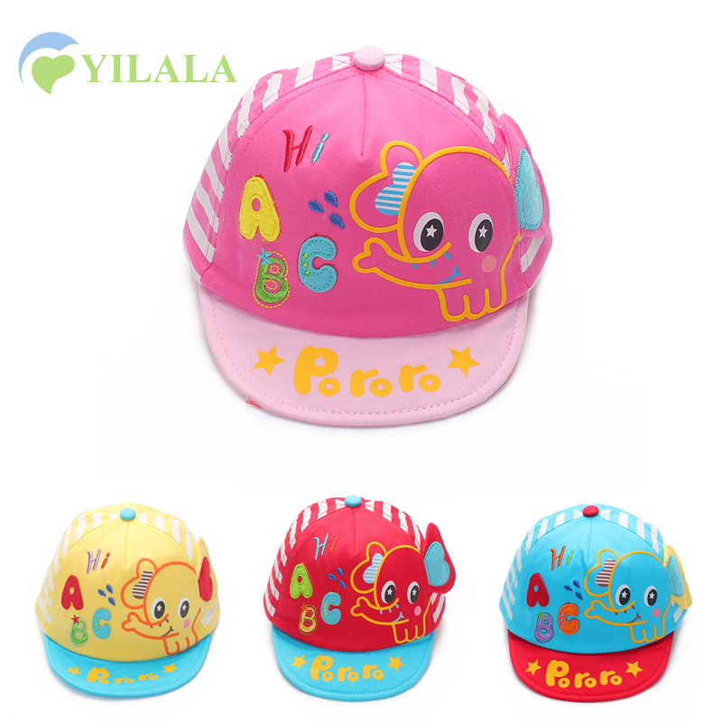 Risanka Baby Girls Hat Slon Ušesa Baby Sun Hat Pomlad Poletje Novorojenčka Cap Baby Boys Girls Bombaž Letter Cap Baby oprema
