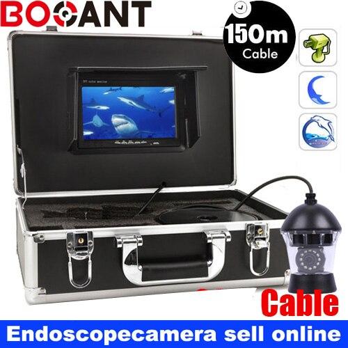 150 m Sony couleur CCD PTZ 360 Rotatif de pêche caméra 360 rotation caméra vidéo Sous-Marine avec DVR 360 degrés fish vidéo caméra